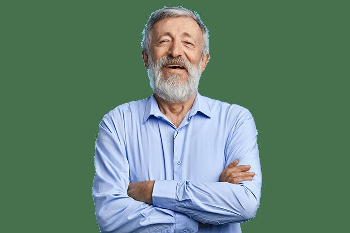 Neo Pflegebox freundlicher Mann Bettschutzunterlagen